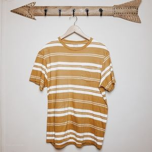 Urban Outfitters Shirts - Urban outfitters mens yellow stripe tee